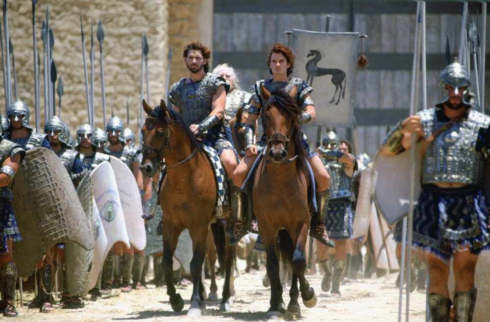 a comparison of homers iliad and the movie troy
