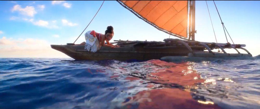 мультфильмы моана на лодке