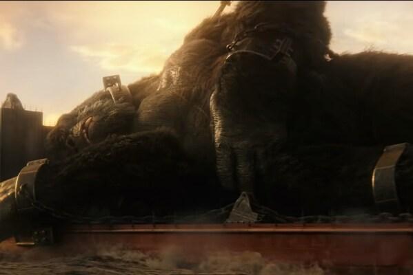 Кадр фильма Годзилла против Конга